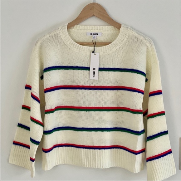 BB Dakota Stripes Sweater Size Small